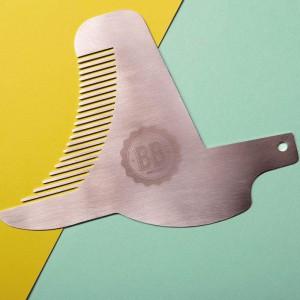 Peigne à barbe trace-contour