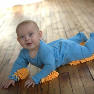 La grenouillère serpillère pour bébé