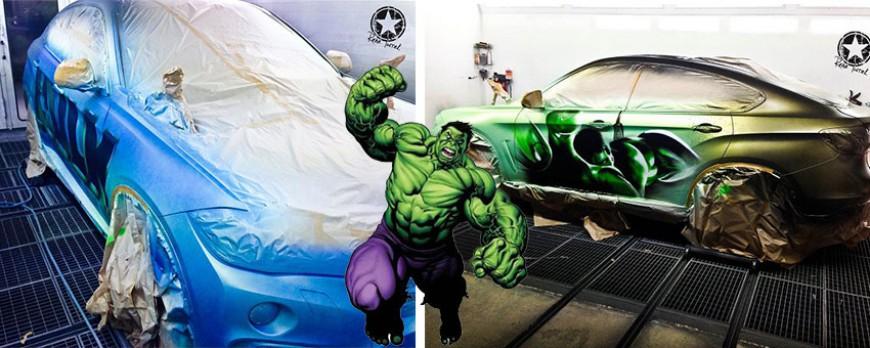 cette bmw x6 se transforme en hulk gr ce une peinture. Black Bedroom Furniture Sets. Home Design Ideas
