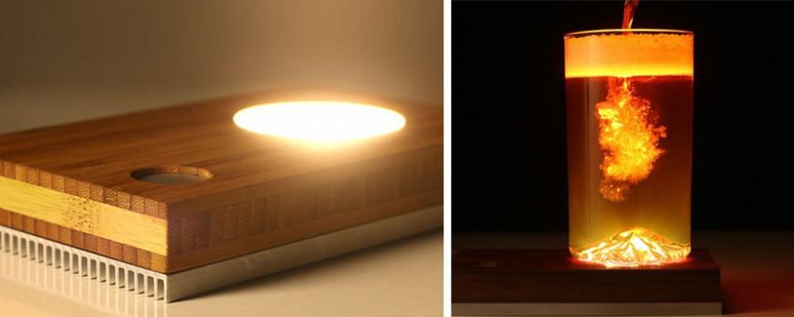 baselamp le support qui permet de cr er une lampe avec tous les objets qui vous tombent sous. Black Bedroom Furniture Sets. Home Design Ideas