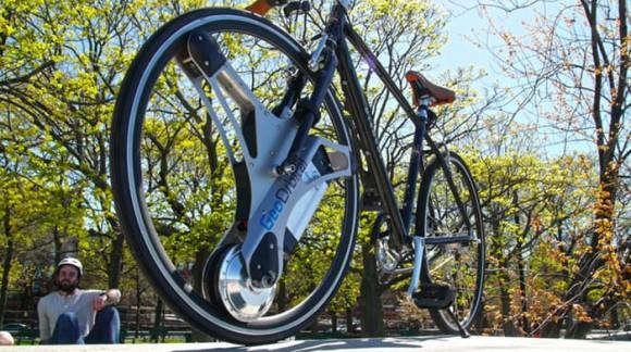 Grâce à GeoOrbital vous pouvez transformer votre bicyclette en véritable bécane électrique !