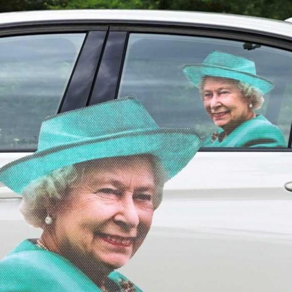 Sticker pour voiture elisabeth II la reine d'angleterre