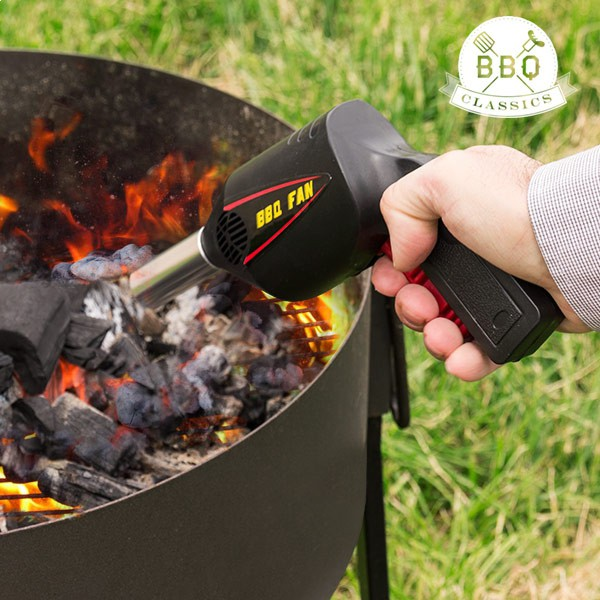 Pistolet ventilateur pour le barbecue