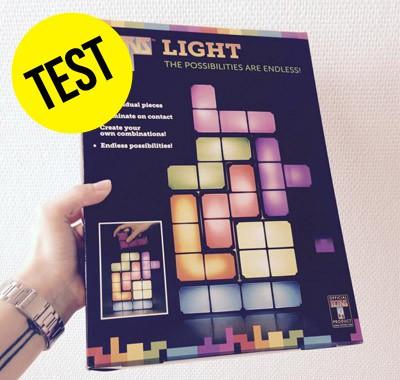 Test Lampe Tetris blocs lumineux personnalisables