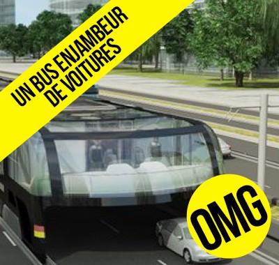 La Chine va créer un bus enjambeur de voitures