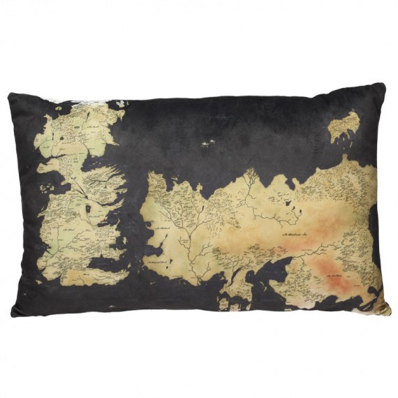Coussin Westeros carte de game of thrones