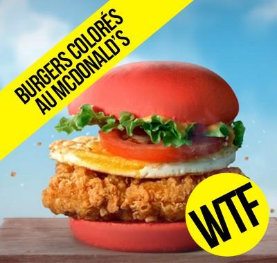 McDonald's lance des burgers colorés